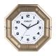 Часы настенные SCARLETT SC-55QZ восьмигранник, белые, золотист. рамка