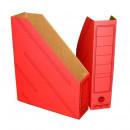 Вертикальный накопитель картонный 70мм красный