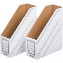 Вертикальный накопитель картонный 100 мм белый 2 шт/кпак