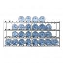 Стеллаж для воды на 32 тары металлик 2480х440мм, h-1155мм