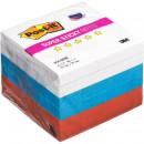 Блок самокл 3М 76*76 Post-it Super Sticky Триколор неоновые 3 цвета (6 блоков по 90 листов)