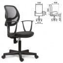 Кресло офисное BRABIX Flip MG-305, с подлокотниками, черно-серое