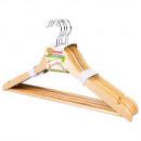 Плечики деревянные с перекладиной цвет сосна 5 шт/упак