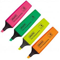 Набор текстовыделителей 4 цвета Attache Colored 1-5мм