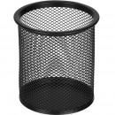 Подставка для ручек, металлическая, круглая, 89 мм высота 100 мм, черная сетка