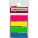 Закладки Attache пластиковые 4 цвета по 25 листов 12х45 мм