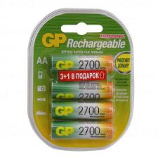 Аккумулятор GP AA 2700мАч,R06, КОМПЛЕКТ 4шт,