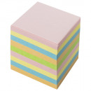 Блок бумажный  9*9*9 без склейки цветной ЭКСТРА