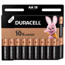 Батарейки Duracell АА/LR6-18BL BASIC   18шт/упак
