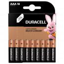Батарейки Duracell  ААА/LR03-18BL BASIC  18шт/упак