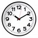 Часы настенные Troyka 78770783 круг, белый фон, черные цифры