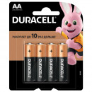 Батарейки Duracell  AA  LR06, 4шт/упак