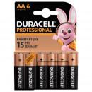 Батарейки Duracell Professional АА LR06 (6 штук в уп) пальчиковые