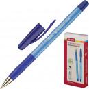 Ручка шариковая Attache Antibacterial, масляная, трехгран. корп. с манжет, синяя (0.5 мм)