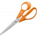 Ножницы 177мм Attache Orange с пластиковыми анатомическими ручками оранжевого цвета