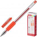 Ручка гелевая Attache ToWn,с резиновой манжеткой, красная