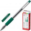Ручка гелевая Attache ToWn,с резиновой манжеткой,зеленая