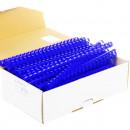 Пружины пластиковые для переплета 16мм. синий (100шт)