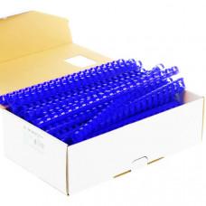 Пружины пластиковые для переплета синии (100 шт/упак)
