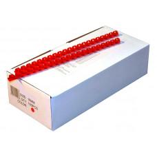 Пружины пластиковые для переплета 6мм  красная (100шт)