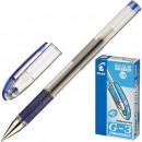 Ручка гелевая Pillot BL-G3 38 с резиновой манжетой синяя  0,2мм