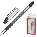 Ручка гелевая Attache Gelios-020 с резиновой манжеткой, черная (0,5мм)