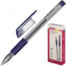 Ручка гелевая Attache Gelios-030 с резиновой манжеткой, синяя (0,5мм)
