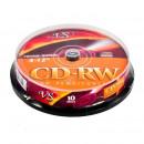 Диск CD-RW VS 700 Mb 4-12x (10 штук в упаковке)