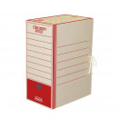 Короб архивный картон 325x260x150 мм, Красный