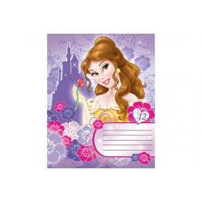 Тетрадь А-5 12 лист линейка Принцессы картинка в ассортим