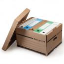 Короб для архива 265*405*330  см, надстраиваемый, с крышкой, картон, бурый