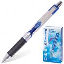 Ручка гелевая BRAUBERG Storm автоматич синяя, тониров. корп.0,5мм, резин. манж