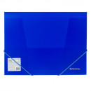 Папка на резинках  BRAUBERG Neon, синяя, 0,5 мм
