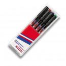 Маркер для пленок  Edding  E-141F; 0,6мм (4 цвета) набор