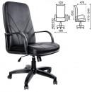 Кресло офисное Менеджер эко кожа черн/пласт.руч
