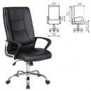 Кресло офисное Forward EX-570, хром, экокожа, черное