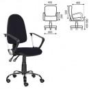 Кресло офисное Клио-люкс/Манго черная ткань