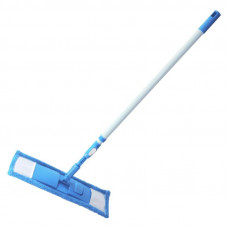 Швабра флаундер Soft Touch 43x14 см с МОПом белая/голубая