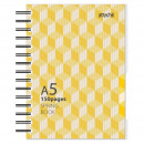 Бизнес-тетрадь А-5 120 лист Attache Selection Spring Book желтая в клетку на спирали