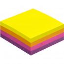 Блок бумажный с липким слоем  51х51 мм, Attache Selection 4 неоноых цвета (1 блок, 400 лист)