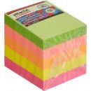 Блок бумажный с липким слоем  38х51 мм, Attache Economy, 5 неоновых цветов (400л) (стикер)