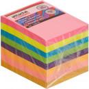 Блок бумажный с липким слоем  38х51 мм, Attache Economy, 8 неоновых цветов (400л) (стикер)