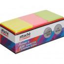 Блок бумажный с липким слоем  38*50 НЕОНОВЫЕ  цветные Attache Economy