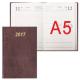 Ежедневник на 2017 г,А-5 Brauberg, бумвинил, бордо
