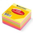 Блок бумажный с липким слоем  76*76  BRAUBERG НЕОН  400л., 5 цветов