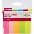 Закладки бумажные Attache 5 цветов по 50 штук, 14х50 мм