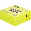 Блок бумажный с липким слоем 76*76 400л желтый