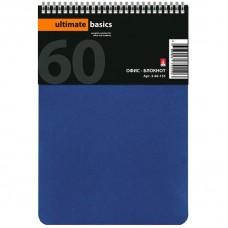 Блокнот А-5 60 лист Альт Офлайн, синий в клетку на спирали.
