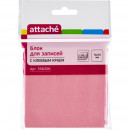 Блок бумажный с липким слоем 76*76  розовый