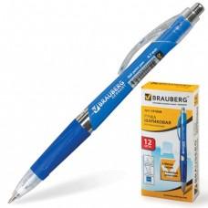 Ручка шариковая Brauberg Rave, автоматическая, с рез.упор.синяя, 0,7мм